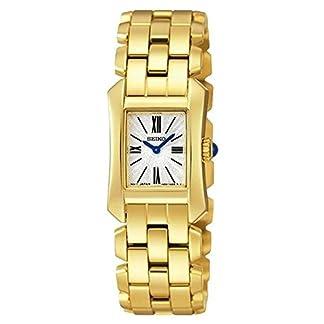 Seiko SUJG72P1 – Reloj con correa de acero para mujer, color blanco / gris