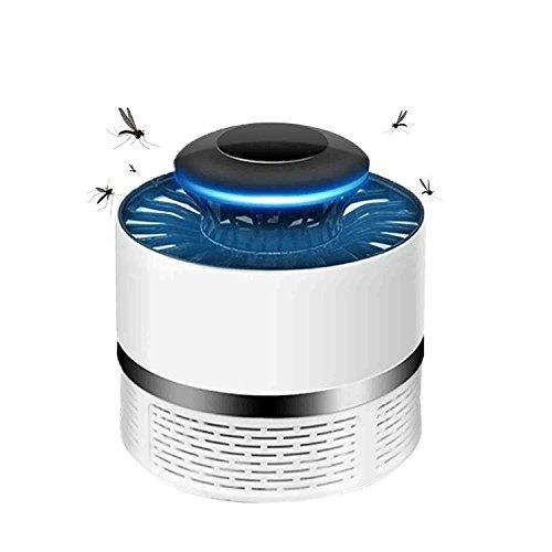 TDW Anti Mosquito, Lámpara Led Atrapa Mosquitos USB Mata Mosquitos Electrico (Blanco)