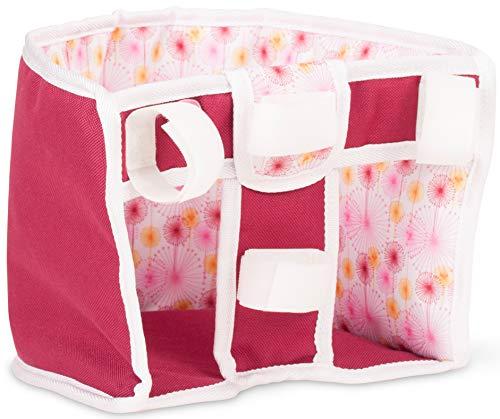 Götz 3402862 Happy Flowers Roller- und Fahrradsitz - Puppenzubehör für alle Puppen von 27 cm bis 50 cm egal ob Babypuppe oder Stehpuppe