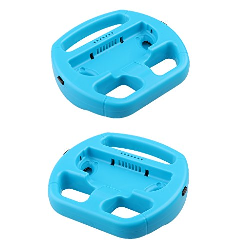 Segolike 2 Pack Manipulate Grip Steering Wheel For Nintendo Switch Controller Blue