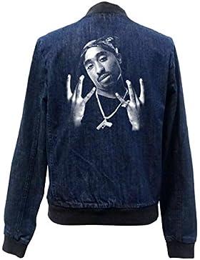 Tupac Westcoast Bomber Chaqueta Girls Jeans Certified Freak