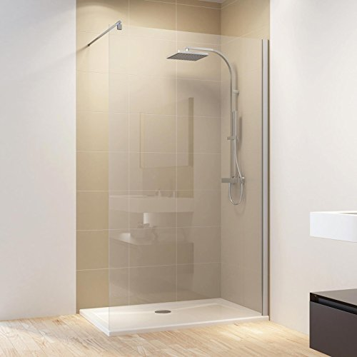 Schulte Duschwand Walk-In MasterClass M6, 120 x 200 cm, 6 mm Sicherheits-Glas klar beschichtet, Profile chrom-optik, Duschabtrennung für Duschwanne oder Fliese