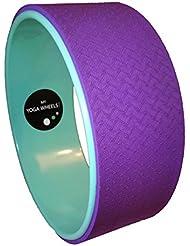 MyYogaWheels UK Yoga Rad,verbessert Balance, Rückenflexibilität, Asana- + Inversion-Streckung, Pilates-Biegungen, löst tiefe Gewebespannung,Physio-Massage zum Öffnen des Brustkorbs, Rückens, Hüfte + Schultern