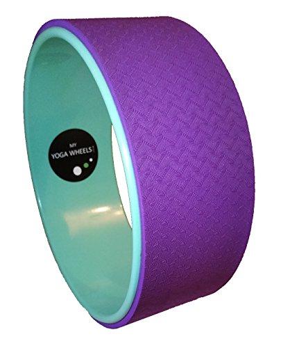 MyYogaWheels UK Yoga Rad,verbessert Balance, Rückenflexibilität, Asana- + Inversion-Streckung, Pilates-Biegungen, löst tiefe Gewebespannung,Physio-Massage zum Öffnen des Brustkorbs, Rückens, Hüfte + Schultern, Herren, Green + Purple