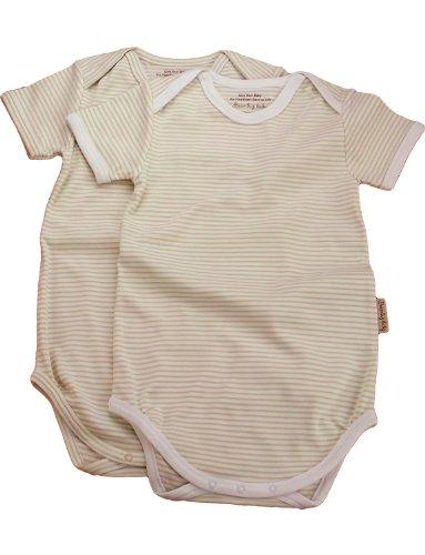 Beaming Baby Organic Cotton Short Sleeve Envelope Neck Bodysuit - 2 pack
