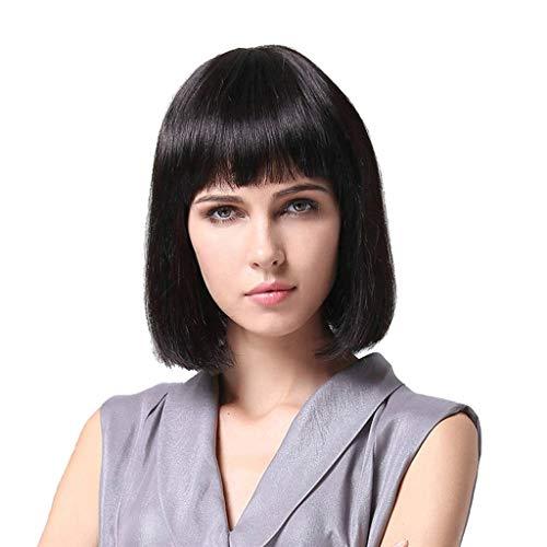 Yinghuawen Kurzhaarige Mode welliges Haar Perücke weiblich, glatt und natürlich, atmungsaktives Mesh, elastisches Design, einfach zu montieren, EIN perfektes ()