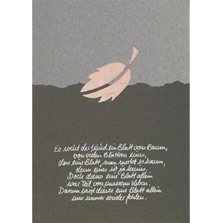 Trauer Karte Es weht der Wind....