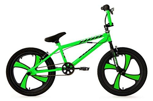 KS Cycling Jungen Fahrrad BMX Freestyler Cobalt Grün, 20 (Wheels Fahrrad Mag)