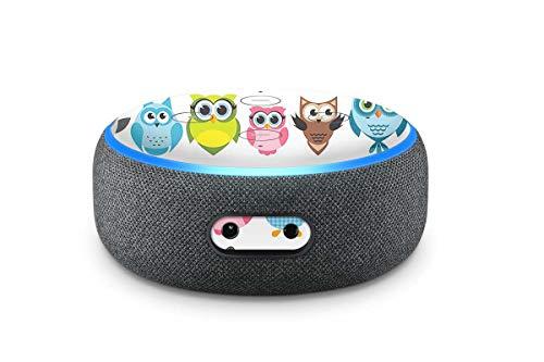 Amazon Echo Dot Skin 3. Generation Alexa Vinyl Aufkleber Schutzfolie Eulen