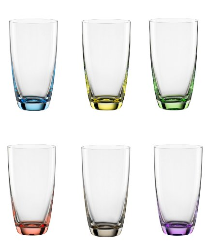 Bohemia Cristal 093 006 051 Longdrinkbecher ca. 350 ml aus Kristallglas 6er Set