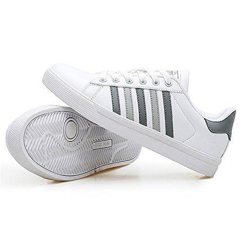 TORISKY Femme Homme Baskets Casual Chaussures de Sport Athlétique Sneakers Gris