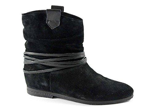 CAF NOIR FE624 chaussures noires Bottes femme