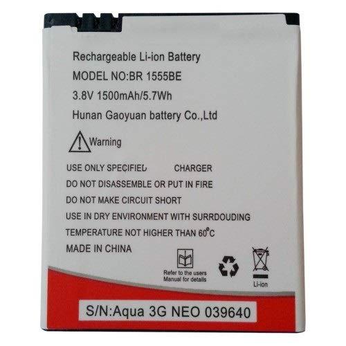 Replacement Internal Battery for Intex Aqua 3G Neo Br1555be1500 Mah Li-Ion