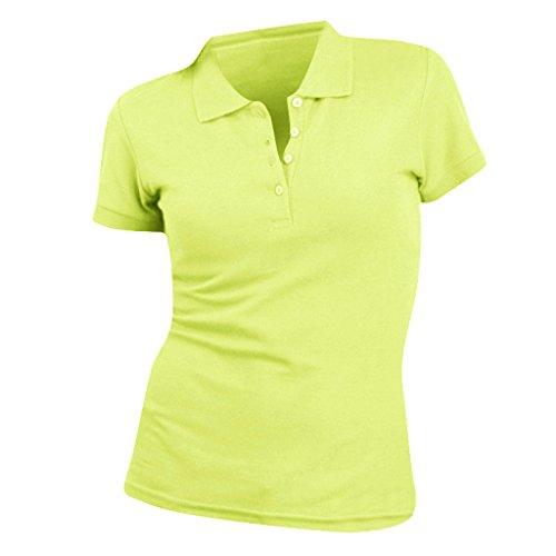 SOLS People Damen Polo-Shirt, Kurzarm (Small) (Apfelgrün) - Team Farbe Piqué Polo
