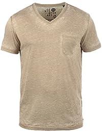 SOLID Theon Herren T-Shirt V-Ausschnitt Shirt mit Brusttasche