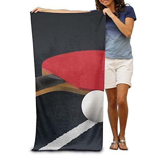 Fedso Strandtuch, saugfähig, Tisch-Tennis, Polyester, Samt, Strandtücher, 79 x 130 cm