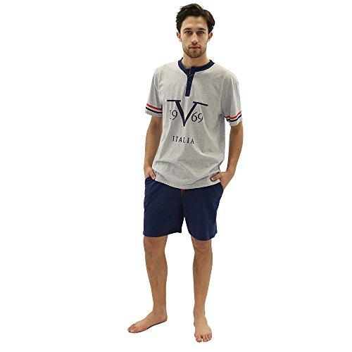 Versace 19.69 – Pijama 27-9081V para hombre, 100% algodón, manga corta – talla M