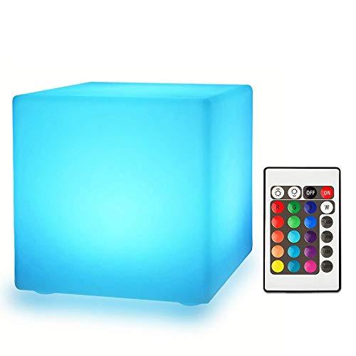Paddia Taburete LED Cubo Silla luminosa Asiento Luz