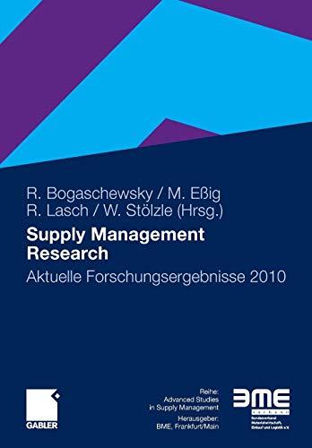 Supply Management Research: Aktuelle Forschungsergebnisse 2010 (German Edition)