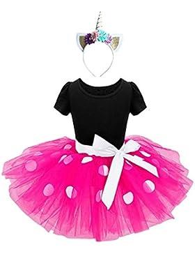 Ragazze Abiti Vestito Costume da dress Principessa Balletto Tutu Danza Body Ginnastica Polka Dots Cerchietto con...