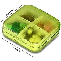 Portable Clear Pill Box Vitamin Fall mit mehreren Fach Container preisvergleich bei billige-tabletten.eu