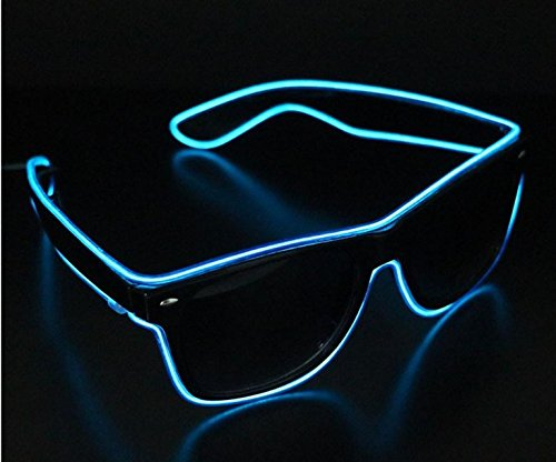 Doyime LED Light Up Glasses for Rave Costume Party