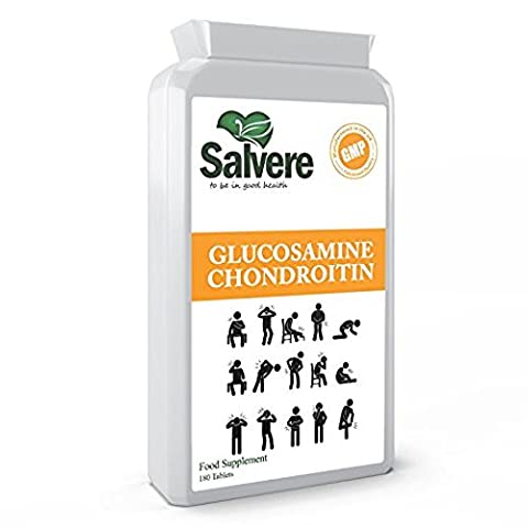 High Strength Glucosamine Chondroitin 500mg with Vitamin C for Powerful Joint Support, Promote Healthy Skin Care, Nails, Bones & for Hair, Helps Get Rid of Water Retention, Boost Cartilage & Help Develop Tendon & Ligaments