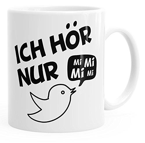 MoonWorks Kaffe-Tasse Spruch Ich Hör Nur Mi Mi Mi Mimimi Geschenk Büro Kollege Kollegin Chef...