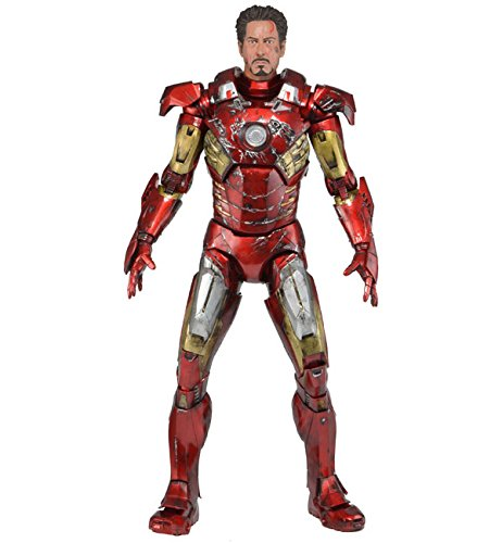 Neca 61238 - Avengers Iron Man Battle Damage Maßstab Action Figur, 45 cm