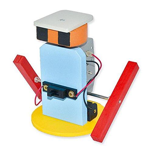 matches21 Roboter mit watschelnder Fortbewegung als Elektro & Holz Bastelset Werkset Bausatz f. Kinder ab 12 Jahren