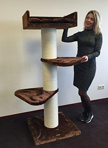 Rhrquality - albero tiragraffi royalty, marrone, palo in sisal, per gatti grandi, 20cm di diametroproduzione di qualità europea di rhrquality.