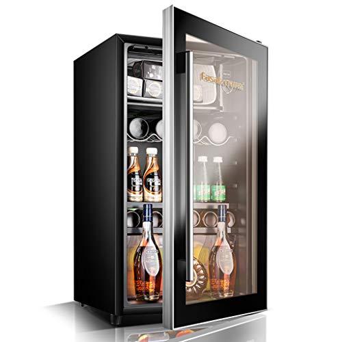 Lxn 95L Compressor Cooler - Rojo y Blanco Enfriador de Vino - Bebidas preservación Mini Nevera - Pomo para la...