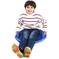 Wgwioo Disco Trineo para Nieve, platillo Volante Flexible para niños y Adultos Tobogán de Invierno al Aire Libre,Blue,57 * 57 * 9.5cm
