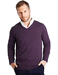 Wool Overs Pull homme col V en cachemire mérinos