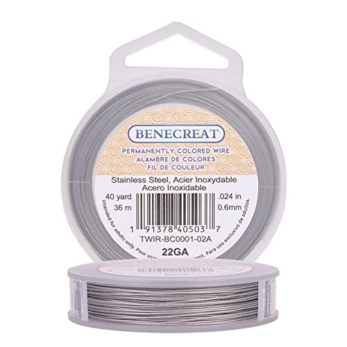 BENECREAT 36m 0.6mm Alambre Acero Inoxidable Cable
