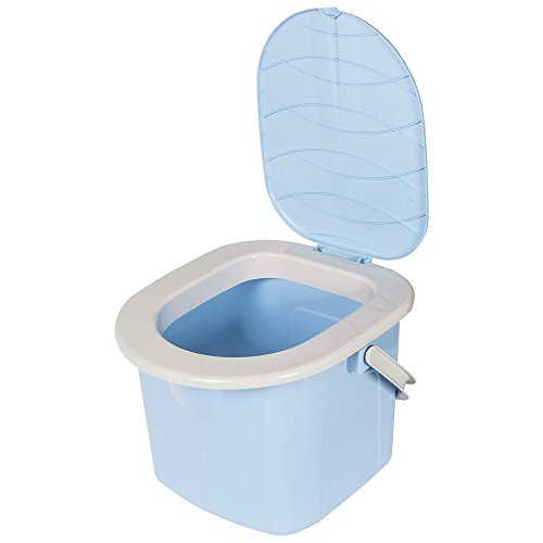 BranQ Toilette 15.5 Liter Campingtoilette Toiletteneimer Reisetoilette Outdoor, Blau, one Size