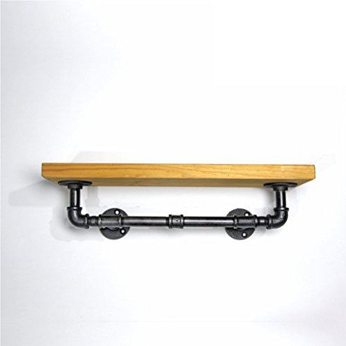 GJY Metall-Eisenrohr-Wohnzimmer-Lagerregal - Vintage Wandregal aus Holz Industrielle Rohrtrennung Regal Einzelregal Handtuchhalter (Top Weinregal)
