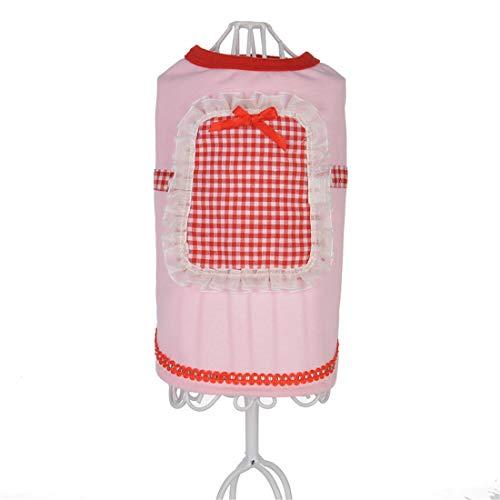 PZSSXDZW Pet Kleidung Frühling und Sommer Reines Dienstmädchen-Outfit Hundebekleidung Pet Kleidung Heimtierbedarf Pink Medium