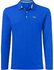 Sport Enfant Garçon et Messieurs/Hockey Tennis/Golf/Polo à manches longues T-shirt en bleu cobalt à partir de taille 110à XXL