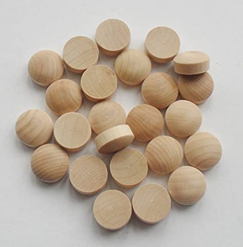 American Round Head Wooden Plugs pack of 20 perfect for faces on wooden plaques