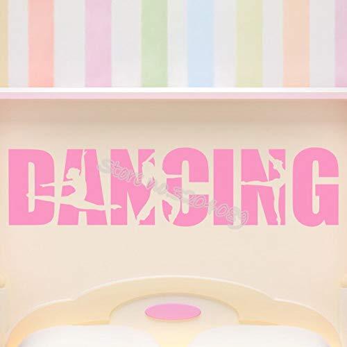 Tanz Zitat Worte Wandaufkleber Mädchen tanzen ballett Vinyl Dekoration Für Wohnzimmer Schlafzimmer tanzstudio Kunst Wandbilder 123X30CM