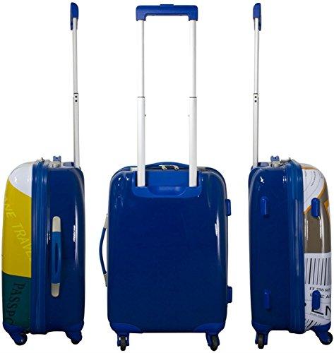 Hartschalen ABS Kofferset 2 tlg Reisekofferset mit Motiv Neapel