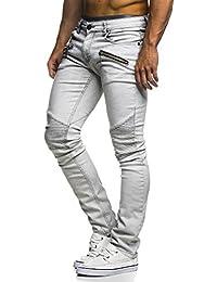 LEIF NELSON Herren Hose Biker Jeans Stretch Jeanshose destroyed  Freizeithose Denim Slim Fit Basic Skinny LN273D dd1a55df08