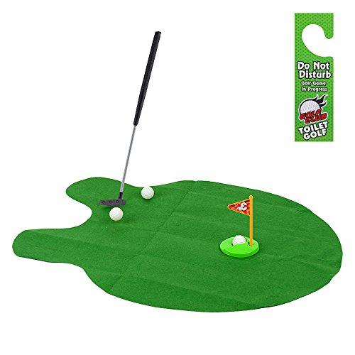 LISRUI neuheit wc Golf, Bad Spielzeug Golf Spiel Set für töpfchen Putter, Indoor Praxis Mini Golf Geschenk Set Golf Training zubehör -
