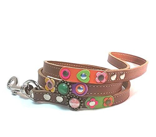 Passende Leder Hunde-leine - Vintage Design (Leder Passende)