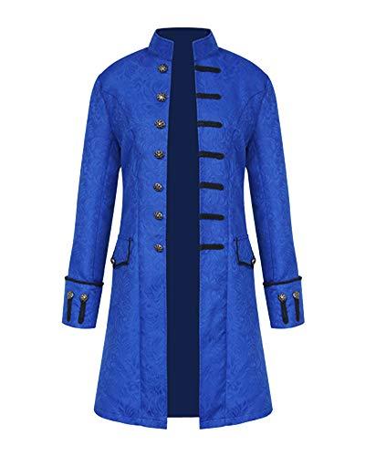 Punk Jacke Steampunk Gothic Langarm Jacke Retro Mittellang Mantel Kostüm Cosplay Uniform Für...
