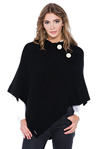 Muscleffect - Poncho - Cappotto -  donna Black