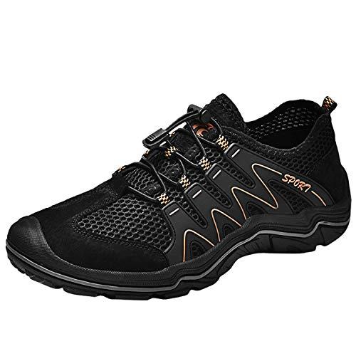 Scarpe da Trekking Uomo Scarpe da Acqua Sneakers Sportivi All'aperto Scarpe Pescatore Piscina Mare Escursionismo Arrampicata Climbing Leggero Scarpa (40 EU, Nero)