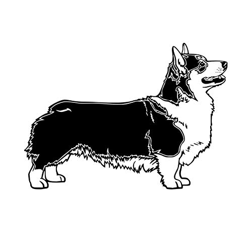 XIAOKEAI DIY Wandaufkleber, Pembroke Welsh Corgi Hund Schlafzimmer Abnehmbare Vinyl Aufkleber wasserdichte Art Deco Kinderzimmer Blumenschmuck 59 * 82 cm