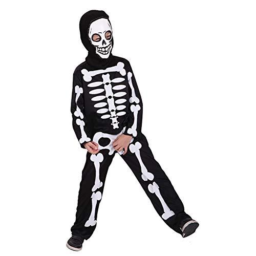 del Trooper Kostüm Horrible Kostüm Halloween-Party-Zentai Kostüm mit Maske, Schwarz, Größe-L ()